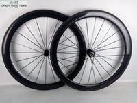 ruedas ud al por mayor-Ruedas de carbono de alta calidad 21 * 50mm ruedas de bicicleta clinchertubular 1 año de garantía envío gratis UD mate brillante