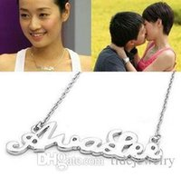 Wholesale Smile Letters - Free shipping Accessories smile letter necklace wholesale price fashion jewelry for women South Korea star necklace
