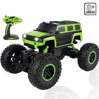 Wholesale Vehicle Shock Absorber - 2.4GHz Bright Cool Light Racing Car Red Or Green Shell Long Distance Control Remote Controlled Off-road Vehicle