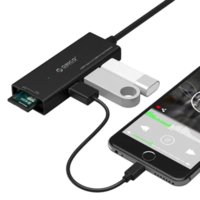 Orico CH3SF Type-C Interruttore USB3.0 Splitter Reader per Macbook USB-C Converter HUB - Nero I2C interruttore a buon mercato