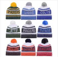 Wholesale Snapbacks Knit - Wholesale fashion winter Beanies Hat American Football Beanies Sports baseball Beanies Knitted Hats man women basketball Snapbacks Hats