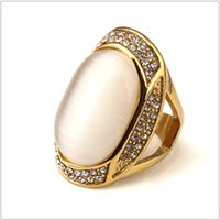 Wholesale Rings Large Stones - 2016 Tide Brand Large Stones Hip Hop Love Ring Men Women Fashion Stainless Steel Rings Man HipHop Jewelry