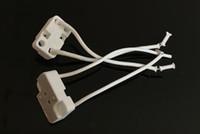 lámparas tejedoras al por mayor-G5.3 Portalámparas de cerámica G4 Enchufe de lámpara de prueba de envejecimiento MR16 Base de lámpara cuadrada Cable de tejido Cable de silicona opcional