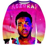 Wholesale Rap Hoodies - Acid Rap Chance The Rapper Men Cewneck 3D Hoodies Sweatshirt Man Women Pullover Outwear O neck Hip Hop Dance Casual Hipster Hooded