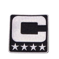Wholesale Iron Patches Baseball - Captain C Patch Iron or Sewing On for Jersey Football, Baseball. Soccer, Hockey, Lacrosse, Basketball