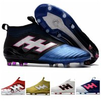 Wholesale Games Ground - Messi ACE 17+ Soccer Cleats PureControl Primeknit FG Firm Ground Football Boots For Daily Soccer Practice & Pro Soccer Games