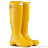 Wholesale Toe Paragraph - Yellow Rain Boot Waterproof Anti Mud Kate The Same Paragraph of Middleton Womens Wellington Boots Welly Boots Wellingtons