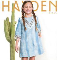 mädchen denim gerade kleid großhandel-Herbst Europa und Amerika Mode Indischen Design Denim Tassel Kleider Kinder Mädchen Kleid Gewaschen Blau Große Mädchen Gerade Kleid Kleidung