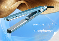 Wholesale hair straightener ceramic titanium - 2016 NEW! PRO Na-No! TITANIUM 1 1 4 plate Flat Iron Ionic Hair Straightener