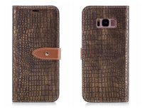 Wholesale crocodile leather case for sale – best For Samsung Galaxy S8 S7 Case Flip Cover Luxury Leather Alligator Leather Crocodile Skin For Samsung S7 edge S8 Plus Case