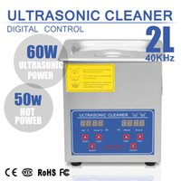 Wholesale Ultrasonic Heater - Brand New Professional Stainless Steel 2L Ultrasonic Cleaner Heater Timer Bracket Jewelry