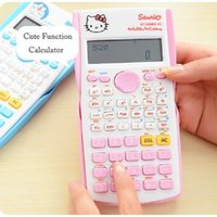 Wholesale Cartoon Calculator - Free Shipping Hot Cute Cartoon Electronic Digit Multifunction Calculator Fashion Student Exam Scientific Function Calculator For Office