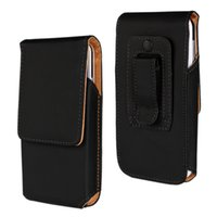 Wholesale Cell Phone Case Belt Clip - Universal Vertical Leather Belt Clip Tradesman Workman Pouch Case Cover for 3.8-5.8inch cell phone