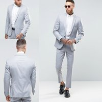Wholesale Cheap Plaid Pants For Men - Custom Made Handmade Men Suits Groom Tuxedos Cheap Tuxedo Wedding Suits For Men, Slim Fit Groom Tuxedos Bridegroom (Jacket+Pants+Vest)