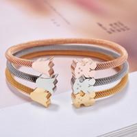 Wholesale Crown Bracelet Cuff - Fashion Brand New Panda style Gold Silver Rose gold Colors Women Female Jewelry open cuff crowns bears bangle bracelet pulsera mujer osos