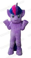 Wholesale Theme Park Mascot Costumes - 100% Real Photos Lovely Little Pony Twilight Sparkle mascot costume Mascotte Mascota for Kids Party Theme Park Entertainment Fur mascot