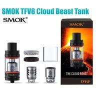 Wholesale Tfv4 Coils Clone - New TFV8 Cloud Beast Tank & TFV4 Full Single Kit SMOK Clone Sub ohm V8-T8 V8-Q4 Coil Head Top fill atomizers Smoktech Vapor Box Mods RDA DHL