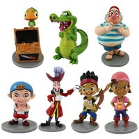 Wholesale Izzy Pirate - Wholesale-7pieces lot 7style 5-10cm pvc Jake and the neverland pirates the pirate captain jack, Izzy doll Festival gift Gifts for children