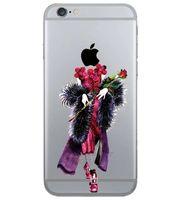 capas transparentes do iphone venda por atacado-Desfile de moda cool colorido beauitful girl tpu transparente case capa para iphone 5 5s 6 6 s além de uma senhora bonita