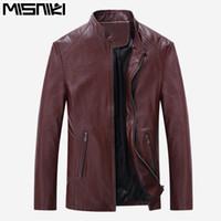 Wholesale Best Leather Coats - Wholesale- MISNIKI 2017 Best Selling Fashion PU Leather Jacket Men Good Quality Casual Slim Mens Jacket Coat (Asian Size)