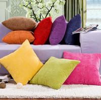 Wholesale Corn Prints - Pure Color Sofa Decoration Pillow Case Corn Kernels Square Cushion Cover Fashion Comfortable Throw 45 * 45CM Pillow case KKA2404