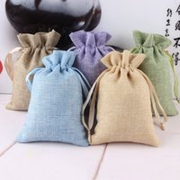 Wholesale S Gadgets - linen bags (50 Pack) - multi size Cloth Storage Bag(s) Drawstring Bags for jewelry, Sunglasses,pad,Electronic Gadgets,Mobile wholesale
