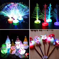 Wholesale Bracelet Multiple - Christmas LED Decorations Plastic Lights Bracelets Hairband Headband Fiber Optic Lamp Christmas Lamp Multiple Flash Modes