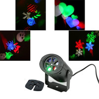 Wholesale Moving Head LED RGB Mini portable LED stage projector light snowflake effect lighting for home Christmas Party DJ Disco