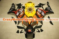 Wholesale Honda Repsol Cover - 3 Gifts+Cowl+Tank cover New ABS Injection Fairings set For HONDA CBR1000RR 2006 2007 CBR 1000 RR 06 07 hot sales yellow tank repsol