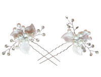 Wholesale Cystal Wedding - 6 Piece Wedding Hair Accessories Bridal Headpiece Pearl Cystal Rrhinestone Hair Pin Clips Hair Jewelry Bijoux cheveux horquillas de pelo