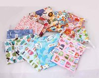 Wholesale Wholesale Cloth Diaper Fabric - New Classic Fashion Nappy Stackers Reusable Wet Cloth Diaper Bags Double Zippers Diaper Bags Approxi 7-9 pcs Diapers 20pcs Lot Animal Print