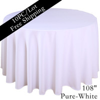 "Wholesale Table Cloths Cheap Wholesale - Home table cloth 108"" Round Polyester Plain Tablecloth Cheap White Black Colored Hotel Table Cloth of Wedding Xmas Party Vintage Home Decor"