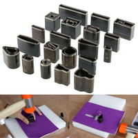 Wholesale Diy Punch - 2015 Hot New Useful Handmade 39 Shape Style Leather Craft Steel Hole Hollow Punch Cutter Set Tool DIY