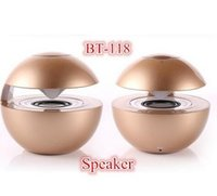 Wholesale Cheap Price Mp3 - Factory Price! New Cheap Portable Ball Shape BT-118 LED Flashing Light Wireless Bluetooth Speaker Sound Box Support TF Card USB FM Radio