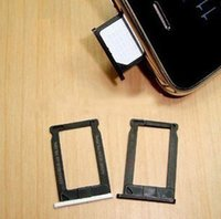 Wholesale Sim Card Tray Holder 3g - For iPhone 3g 3gs Sim Card Slot Tray Holder Adapter with Black and White Colours replacement