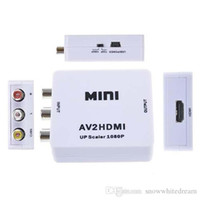 2016 HDMI interfaz Mini HD Video Converter Box HD Para AV / CVSB de vídeo HDMI a AV Adapter HDMI2AV Soporte NTSC y PAL Salida