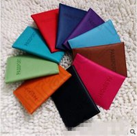 Wholesale Card Protector Wallet - 300pcs CCA4314 High Quality Korean Style 11 Colors Passport Holder Wallets Card Holders Cover Case Protector PU Leather Travel Card Holders