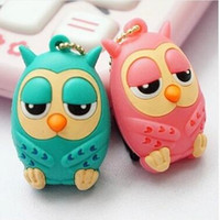 Wholesale Owl Earphone Jack - Owl 3.5 mm Earphone Jack Plug lovely dust plug for mobile phone with pink and green colors