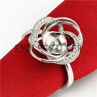 configurações do anel de prata em branco venda por atacado-Twining Ring Settings Zircon Base em Branco 925 Sterling Silver DIY Apreciação Jóias Pérola de Montagem para a Festa de Pérola