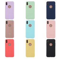 Wholesale Iphone 5s Silicon Cases - For Iphone X 7 6 Plus 5S SE Clear TPU and Matte Solid Color Case Ultra Thin Back Cover Protect Skin Silicon Case For Iphone 8