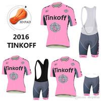Wholesale Saxo 4xl - Newest 2016 Women Style Cycling Jerseys Pink Tinkoff Saxo Bank Bike Wear Short Sleeves Black White None Bib shorts Quick Dry XS-4XL