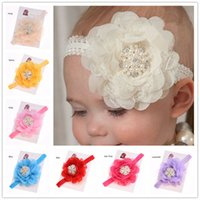 Headbands other other Wholesale 24pcs Newborn Baby Hair flower headband Pearl flower lace headband Cheap Hair bows Casual baby headbands Photo Prop