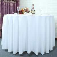 Wholesale Cotton Fabric For Tablecloths - 118 inch Table cloth Table Cover round for Banquet Wedding Party Decoration Tables Satin Fabric Table Clothing Wedding Tablecloth Home Texti