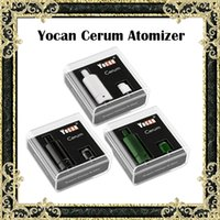 Wholesale Extra Wax - Original Yocan Cerum Atomizers E Cigarette Wax Vaporizer Full Ceramic With Extra QDC Coil Fit 1100mAh Evolve Plus Battery 3 Colors Available