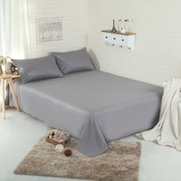 Wholesale Hotel Bedsheet - Luxury Hotel Home Cotton Bed Sheets Set King Queen Twin Full Size Sabanas Solid Hotel Sheets Set Bedding 1pc Bed Sheet 2pcs Pillowcases