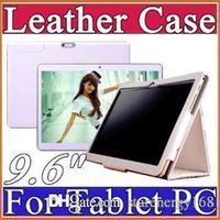 "Wholesale Original Tablet Phone - 9.6 inch Original Protective Leather case for 9.6"" 3G phone MTK6572 MKT6589 MTK6592 MTK8382 Tablet PC D-PT"