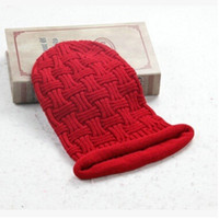 Wholesale Designer Tie Set - Wholesale -2016 new fashion men's thick wool cap knitted hat autumn and winter sets of headgear man designer cross cap beanies MZ-6