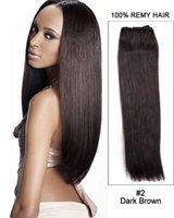 Wholesale Hair Weave Darkest Brown - 7A Peruvian Remy Hair Weave Straight #2 Darkest Brown Fashion Natural Weft