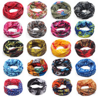 Wholesale Wholesale Sports Scarfs - New Fashion Multifunctional scarf Headband Outdoor Sports Turban Sunscreen Magic Scarves Veil Cycling Seamless bandanas 2175