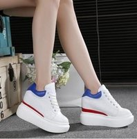 Wholesale Lime Green Wedge - 2017 Fashion Casual Women Shoes Height Increasing Ladies Shoes Mesh Breathable Platform wedge Flat Female Shoes white